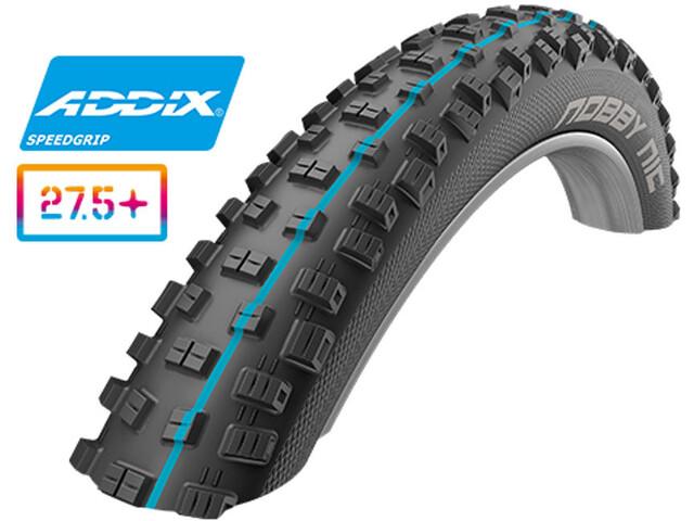 """SCHWALBE Nobby Nic Folding Tyre 27,5"""" Addix Performance DD SnakeSkin, black"""